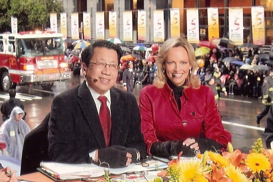 BEN FONG-TORRES JULIE HAENER TELECAST SOUTHWEST CHINESE NEW YEAR PARADE - PHOTO BY FRANK JANG