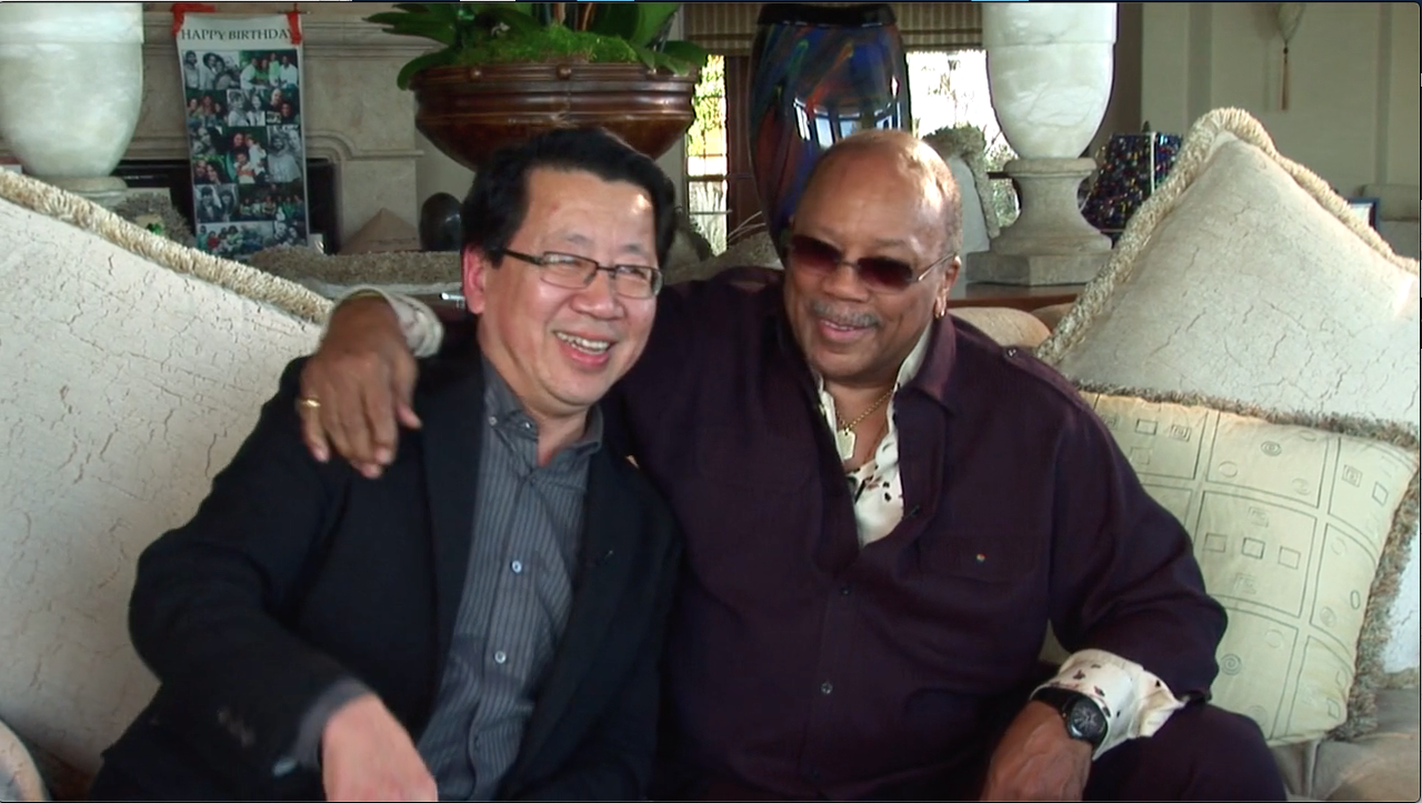 BEN FONG TORRES AND QUINCY JONES - from LIKE  A ROLLING STONE documentary to be released in 2021
