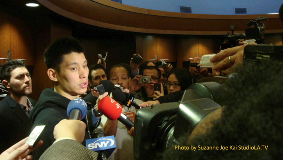 AC - Jeremy Lin in the Locker Room-NY Knicks-March 11-2012