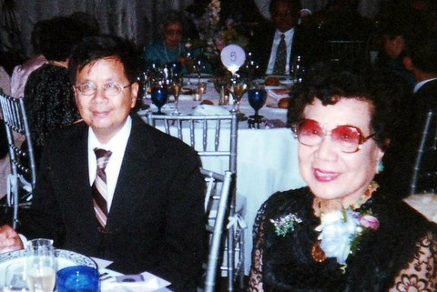 Photo: Burton Fong-Torres with mother Connie Fong-Torres