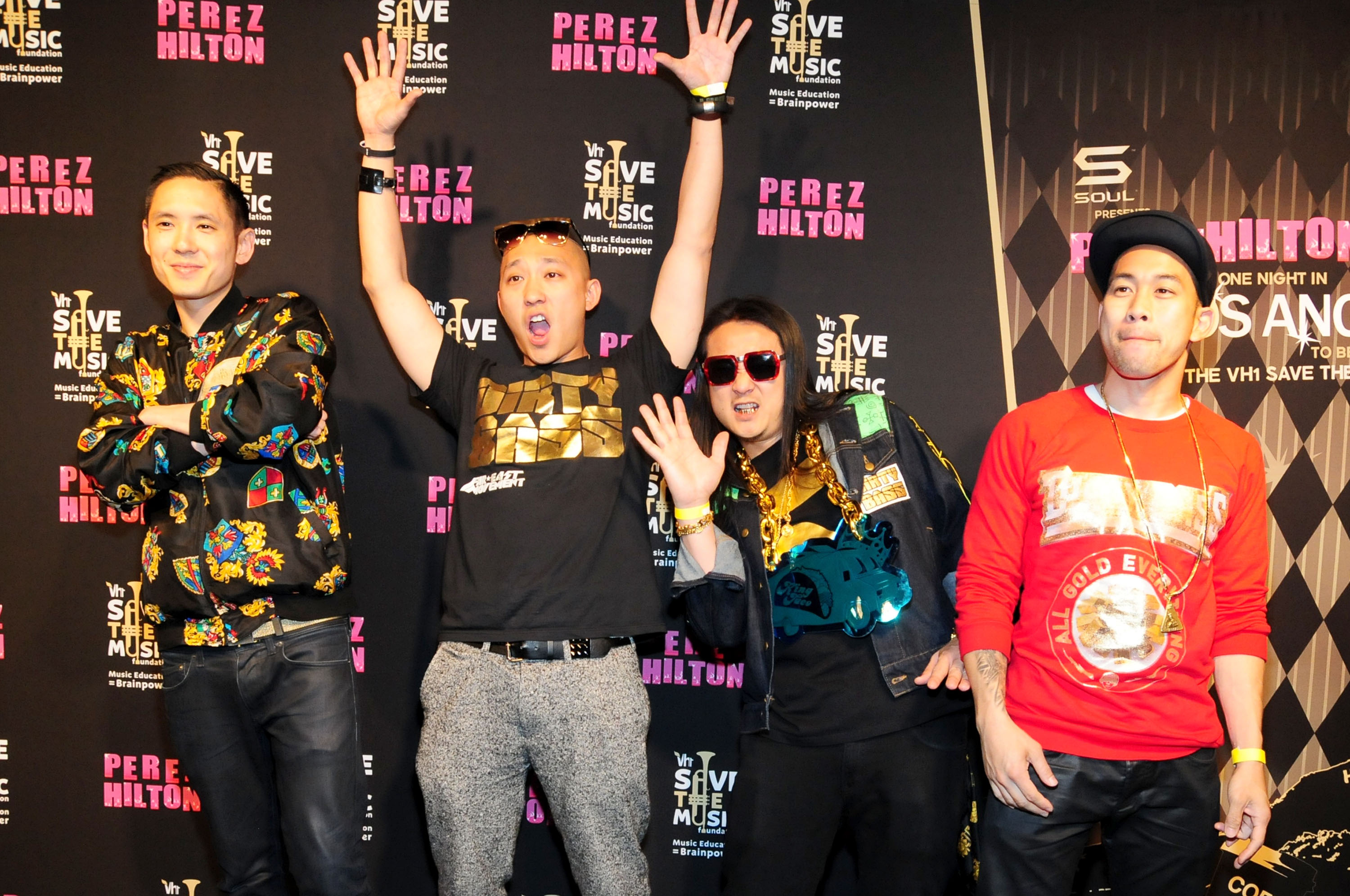 Far East Movement and IM5 entertain at Perez Hilton's
