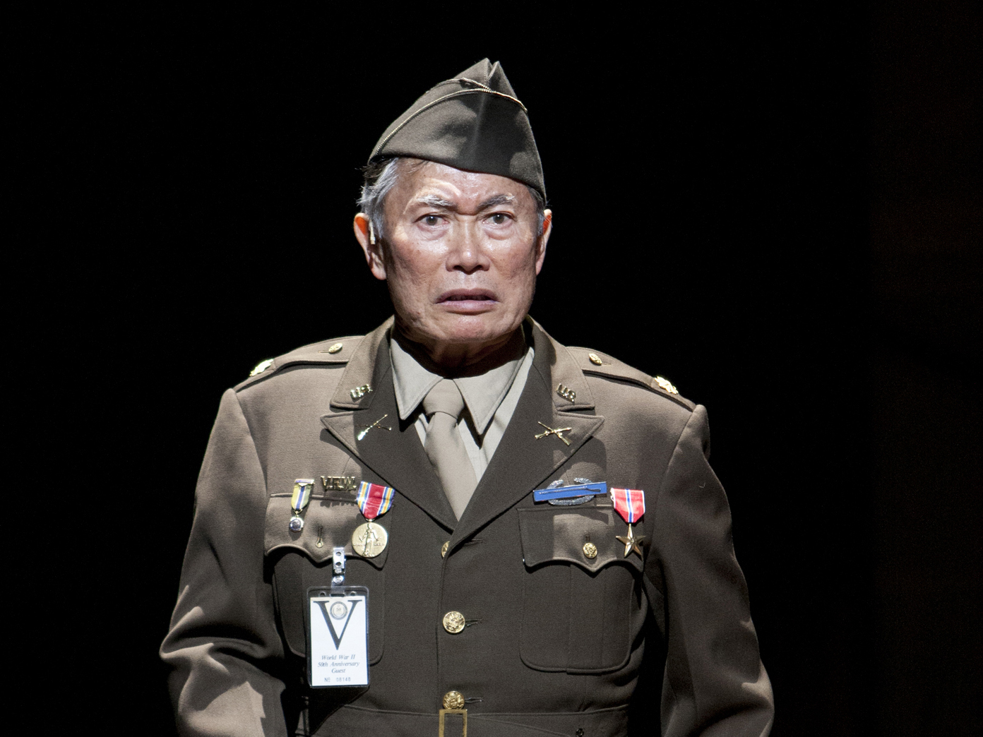 George Takei in Allegiance - A New America Musical  Photo by Henry DeRocco